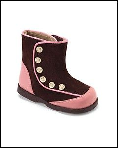 See Kai Run Carley Suede Leather Boots 6 Toddler Girls Shoes Chocolate