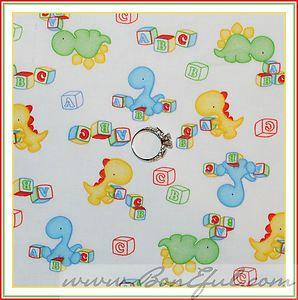 Boy Dinosaur Dragon Toy Alphabet Letter Blocks Quilt Cotton FQ