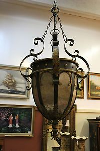 Fine Art Lamps Antique Gold Leaf Castile Renaissance Three Light Foyer