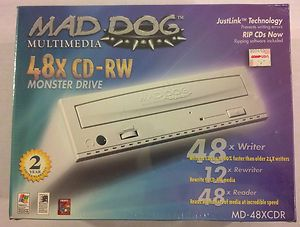 BOX Mad Dog Multimedia 48X CD RW Monster Drive NERO CD Burner Software
