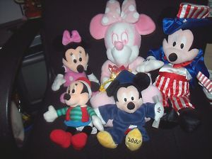 Disney Mickey Mouse and Minnie Stuffed Plush Animal Lot