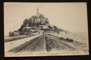 1919 Arrival of Broows Carts Mont Saint Michel France