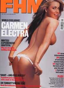 Carmen Electra Ricky Martin Burt Reynolds Traci Lords FHM July 2001 UK