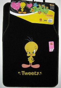 New Tweety Bird Car Floor Mats Front Carpet Rug Auto Truck Looney