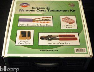 Shaxon Cat 5e Network Cable Termination Kit UL525 Kit