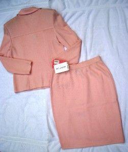 St John Collection Marie Carnation Pink Santana Knit Jacket 10 Skirt 6