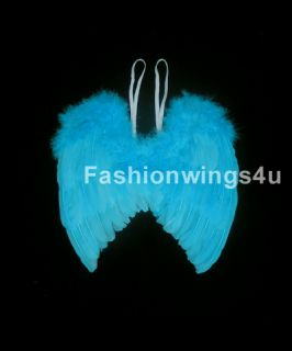 Babies Children Blue Birds Macaw Fairy Angel Costume Feather Wings Rio