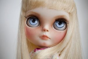 Carol Anne from Poltergeist Movie OOAK Custom Blythe Doll by Erregiro