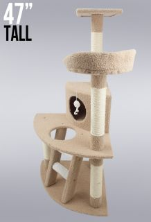 New Cat Tree 47 Level Condo Furniture Scratching Post Pet House Brown