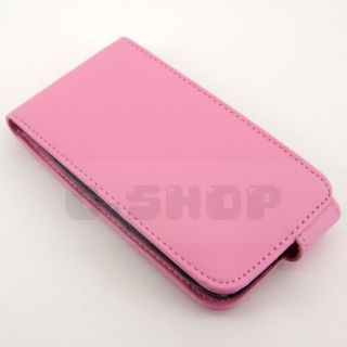 LEATHER CASE POUCH COVER SKIN FILM FOR NOKIA Lumia 610 Pink  f