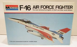1976 F 16 AIR FORCE FIGHTER 1/48 SCALE MODEL AIRPLANE KIT MIB UNBUILT