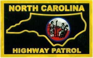 Inside North Carolina Highway Patrol Window Decal