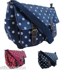Messenger Saddle Satchel Bag Made with Cath Kidston Oilcloth