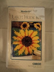 Latch Hook Kit from Caron Sunflower