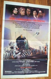 THE CASSANDRA CROSSING (1977) US 1 sheet   Fine to Ex condition