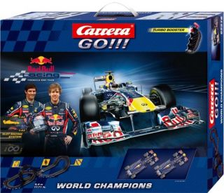 Carrera Go World Champions Red Bull Racing Slot Car Racing Track 62278