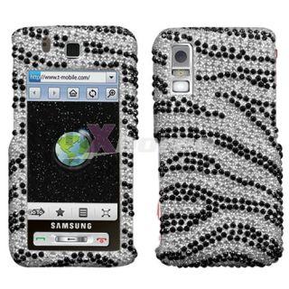 Samsung T919 Behold Case Cover Black Zebra Skin Bling