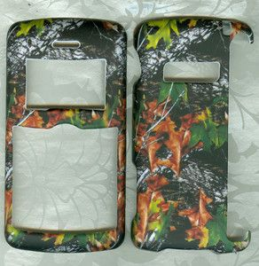 Rubberized Camo Leaves Phone Hard Cover Case LG enV3 VX9200 VX 9200
