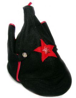 Budionovka USSR Red Star Hat Cap Helmet Black Size L 58