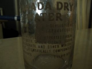 VINTAGE 1950s GLASS DURAGLAS + CANADA DRY CLUB SODA BOTTLES 7 FL OZ