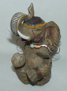 Giovanni Whimsical Sitting Elephant Figurine with Wrinkles Earrings 5