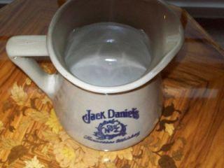 Jack Daniels Beautiful Cobalt Blue Cave Spring Stoneware Water Pitcher