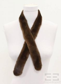 Saga Fox Brown Fox Fur Scarf Cassin Brown Mink Fur Sash Two Piece Set