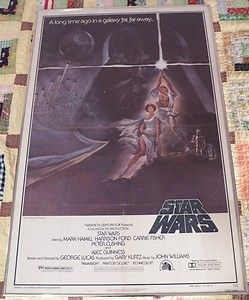 Original 1977 STAR WARS theatrical poster ONE SHEET   STYLE A