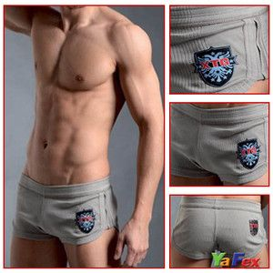 New Casual Shorts Home Pants Mens Boxers Briefs Underwear Color Grey