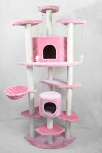 80 Pink Cat Tree Condo Furniture Scratch Post Pet House 38P