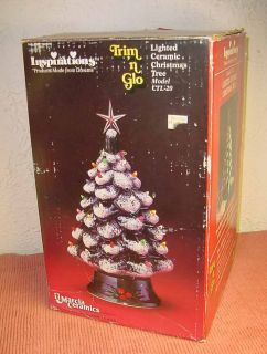 Vintage large Lighted Ceramic Christmas Tree IOB