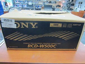 Sony RCD W500C CD RW 5 Disc Changer Cd Player Recorder Burner Dual
