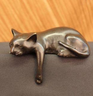 Mene Bronze Art Sculpture Figure Cat Figurine Vienna Bronze Art Decor