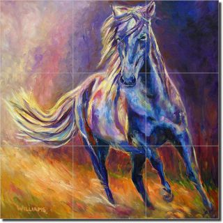 Williams Horse Equine Art Home Decor Ceramic Tile Mural