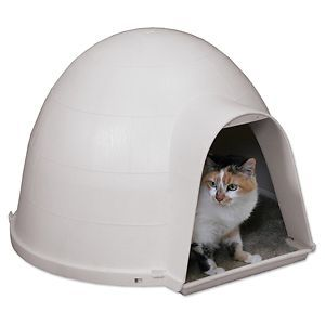 Petmate Kitty Kat House Condo Pet Dog Cat Outdoor Warm Cool Bed Kitten