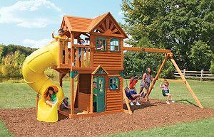 Cedar Summit Mountain View Resort Wooden Kids Garden Play centre