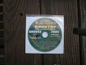 Karaoke CDG Chartbuster Pro Disc Monthly Country Hits of August 2009