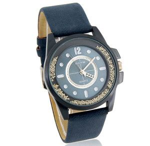 Cate Quartz Womens Round Dial Analog Watch with Fauxy Leather Strap