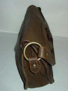 Caterina Lucchi Italy Brown Olive Italian Leather Handbag Bag Purse