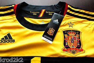 Spain Goalkeeper Iker Casillas 1 Football Soccer Jersey UEFA