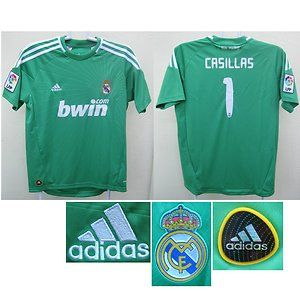 Real Madrid Adidas Kids Casillas Goalkeeper Football Soccer Jersey