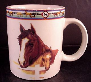 Tienshan Folkcraft Cedar Valley Stables Stoneware 3 58 Tall Mug