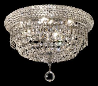 14 flush mount ceiling light crystal chandelier 03fc features chrome