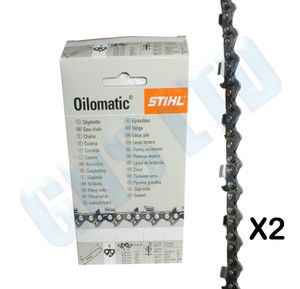 Original Genuine Stihl Chainsaw Chain Pack of 2