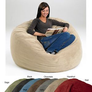 Extra Large Memory Foam Lounge Bean Bag Chair 7 Colors