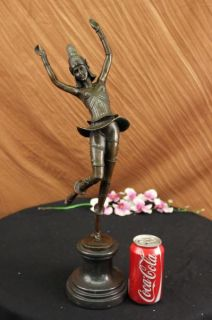 Vintage Signed Cassel Art Nouveau Dancer Russian Bronze Sculpture