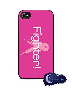 Fighter Breast Cancer Pink Ribbon iPhone 4 4S Slim Case Cell Phone