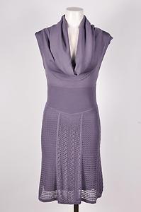 Catherine Malandrino Lilac Sleeveless Cowl Neck Dress Sz P
