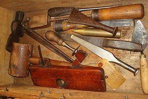HUGE SHIPWRIGHT TOOL BOX CHEST LOT CHISEL SHIP BUILDERS CAULKING IRONS