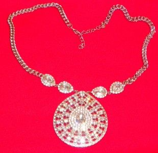 Cat Deeley Limited Edition Clear Rhinestone Large Pendant Necklace